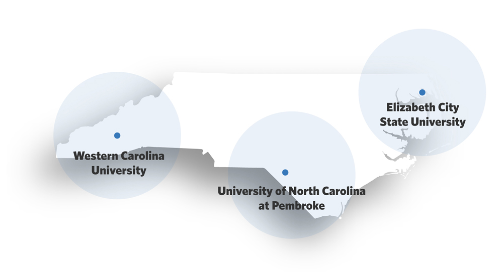 3 campuses participating in the NC Promise Plan
