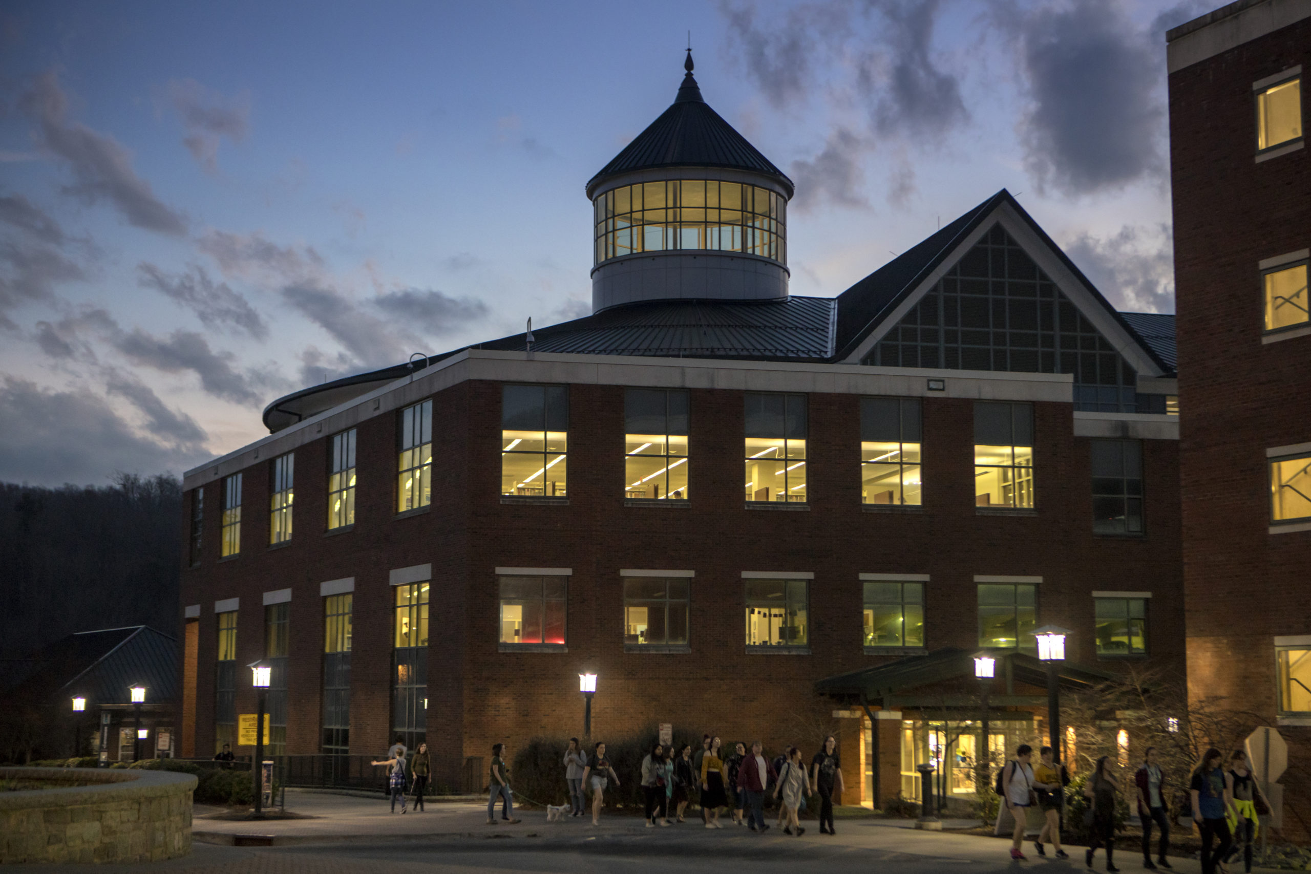 A building in the evening on Appalachian's Campus