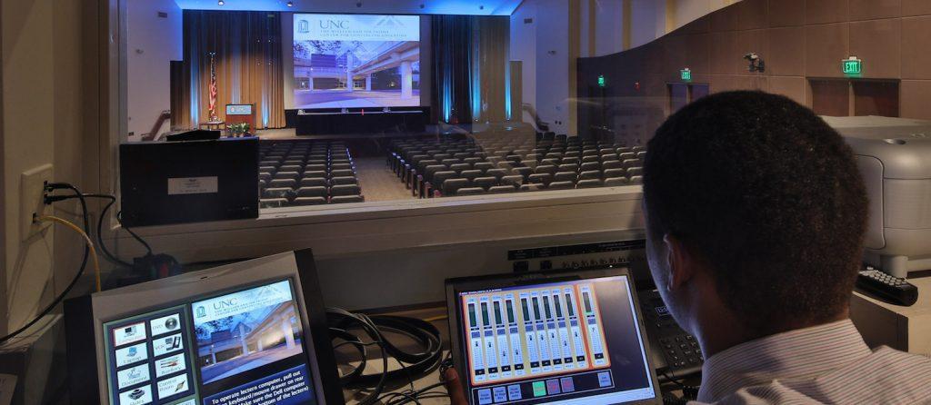 Friday Center auditorium technology
