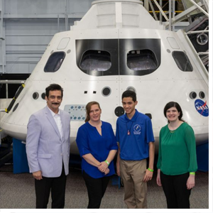 """Heather Vivian, an MBA student at Fayetteville State University (FSU), was recognized for the best business case presented to the NASA """"Space Tank"""" team, similar to the """"Shark Tank"""" program."""