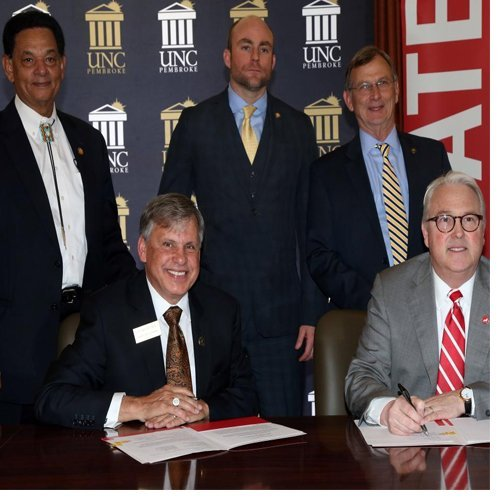 UNC Pembroke launches pathway program with College of Veterinarian Medicine at N.C. State University