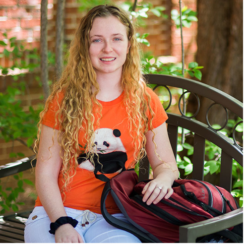 Freshman Shelby Watson received a Critical Language Scholarship from the U.S. Department of State to study Chinese in Taiwan.