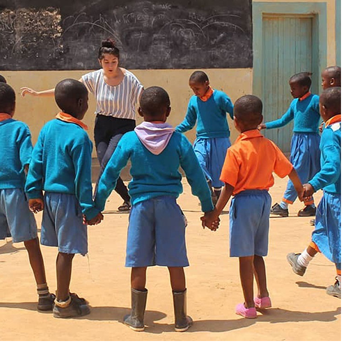 Education faculty, students continue collaboration with Kenyan village school library