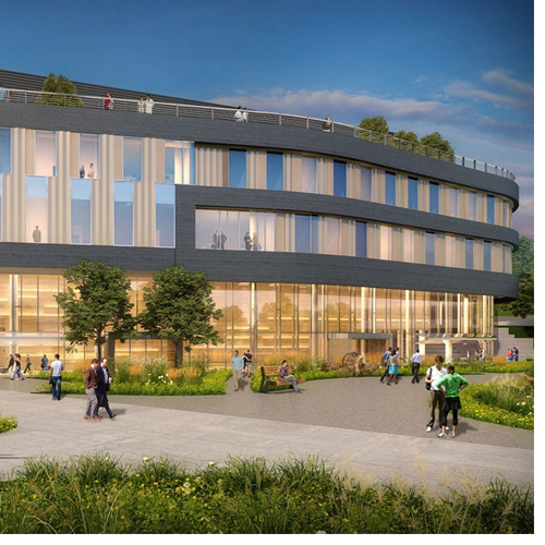 University of North Carolina System President Margaret Spellings and UNC Board of Governors Chair Lou Bissette are among the dignitaries expected to attend the groundbreaking ceremony for WCU's new Tom Apodaca Science Building. (Architectural rendering provided by Lord Aeck Sargent)