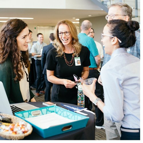 Graduates of the inaugural Coding Boot Camp certificate program recently had the chance to showcase their final projects and portfolios for potential employers at a special networking expo.