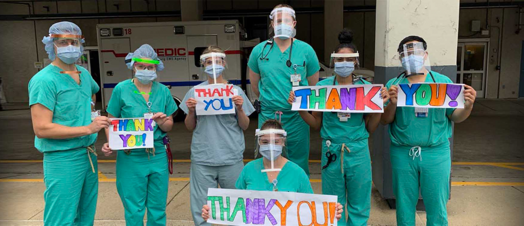 Healthcare workers say thankyou (Hero Image)