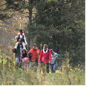 A 2.2-mile section of Carolina Thread Trail weaves through a 358-acre permanently conserved area, protected by Catawba Lands Conservancy (CLC) within the Girl Scouts' Dale Earnhardt Environmental Leadership Campus at Oak Springs in Iredell County.
