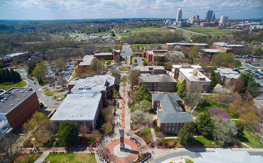 An overhead shot of WSSU campus.
