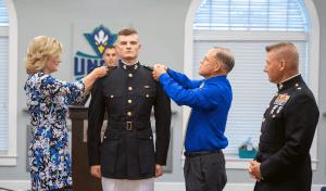 UNC Wilmington military ceremony.