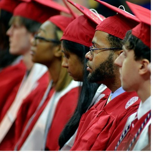 NCSU students at commencement